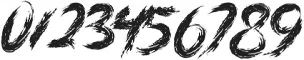 DANGER ZONE otf (400) Font OTHER CHARS
