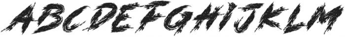 DANGER ZONE otf (400) Font LOWERCASE