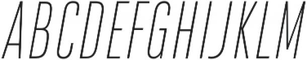 DaBronx Sans Extra Light Italic otf (200) Font UPPERCASE