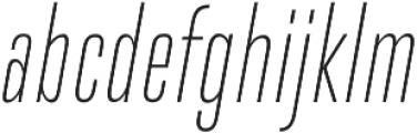 DaBronx Sans Extra Light Italic otf (200) Font LOWERCASE