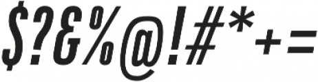 DaBronx Sans Medium Italic otf (500) Font OTHER CHARS