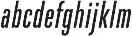 DaBronx Sans Regular Italic otf (400) Font LOWERCASE