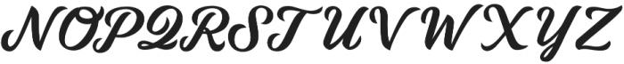 Daelo1 Regular otf (400) Font UPPERCASE