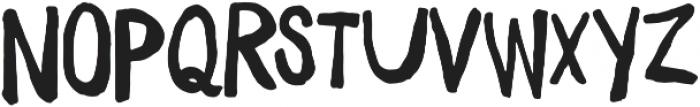 Daft Brush Text otf (400) Font UPPERCASE