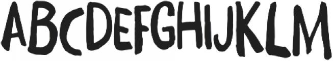 Daft Brush otf (400) Font UPPERCASE