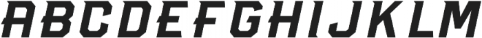Dagger Light Italic otf (300) Font UPPERCASE