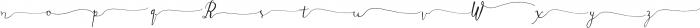 DagoSwashesXtra ttf (400) Font LOWERCASE