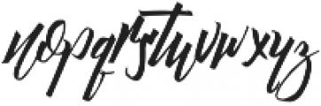Daily Hustle Regular otf (400) Font LOWERCASE