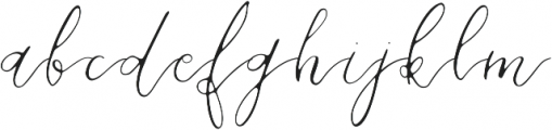 Daisies of Our Lives otf (400) Font LOWERCASE