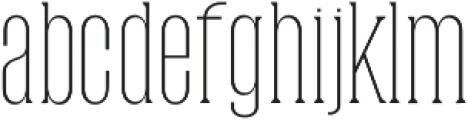 Dalena Thin otf (100) Font LOWERCASE