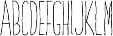 DalityMixthree light ttf (300) Font UPPERCASE