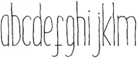 DalityMixthree light ttf (300) Font LOWERCASE