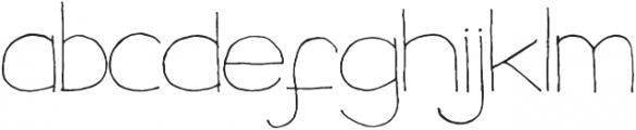 DalityMixthree wide ttf (400) Font LOWERCASE