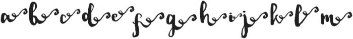 DalityRight ttf (400) Font LOWERCASE