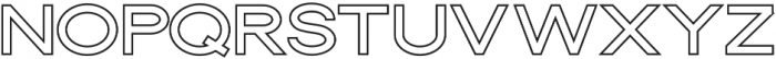 Dallas Outline Thick otf (400) Font UPPERCASE