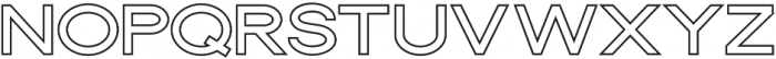 Dallas Outline Thick otf (400) Font LOWERCASE