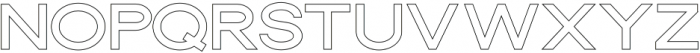 Dallas Outline Thin otf (100) Font UPPERCASE