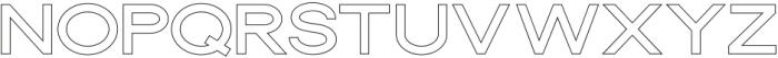 Dallas Outline Thin otf (100) Font LOWERCASE