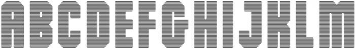 Dalmation Strips otf (400) Font UPPERCASE