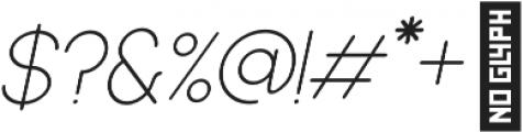 Dalton Extra Light Italic otf (200) Font OTHER CHARS
