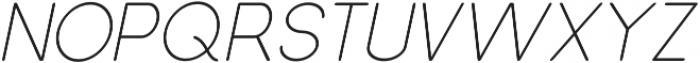Dalton Extra Light Italic otf (200) Font UPPERCASE