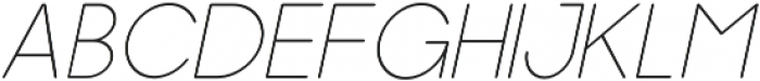 Dalton Thin Italic otf (100) Font UPPERCASE