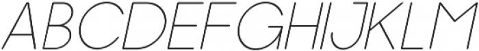 Dalton Thin Italic otf (100) Font LOWERCASE