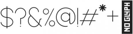 Dalton Thin otf (100) Font OTHER CHARS