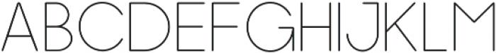 Dalton Thin otf (100) Font UPPERCASE