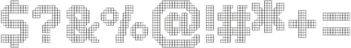 Dance Floor Grid otf (400) Font OTHER CHARS