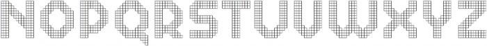 Dance Floor Grid otf (400) Font UPPERCASE