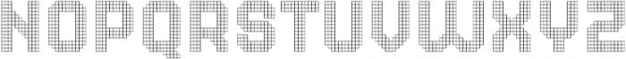 Dance Floor Grid otf (400) Font LOWERCASE