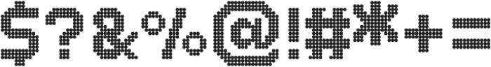 Dance Floor Lightbulbs otf (300) Font OTHER CHARS