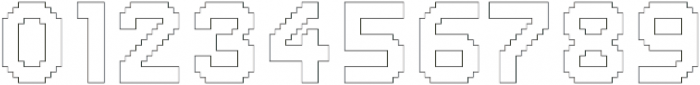 Dance Floor Outline otf (400) Font OTHER CHARS