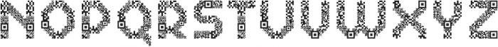Dance Floor QR Code otf (400) Font UPPERCASE