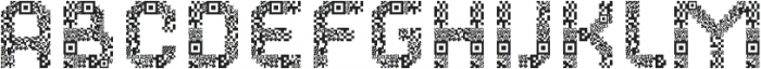 Dance Floor QR Code otf (400) Font LOWERCASE