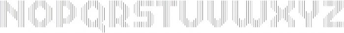 Dance Floor Vertical Outline otf (400) Font LOWERCASE
