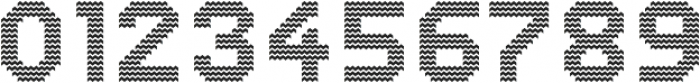 Dance Floor Zigzag otf (400) Font OTHER CHARS