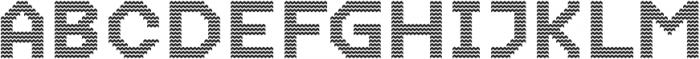 Dance Floor Zigzag otf (400) Font UPPERCASE