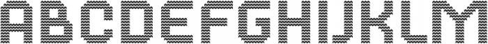 Dance Floor Zigzag otf (400) Font LOWERCASE