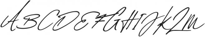 Daniels Signature otf (400) Font UPPERCASE