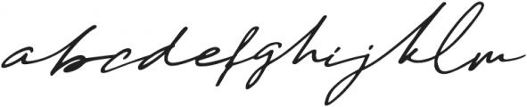 Daniels Signature otf (400) Font LOWERCASE