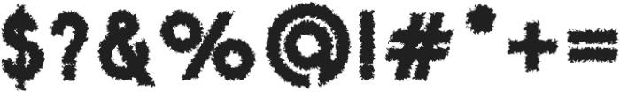 Danken Outer Rough otf (400) Font OTHER CHARS