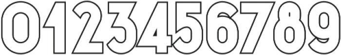 Danken Regular Stroked otf (400) Font OTHER CHARS