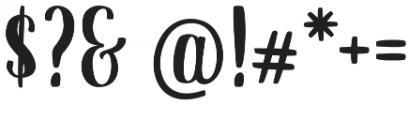 Dankita otf (400) Font OTHER CHARS