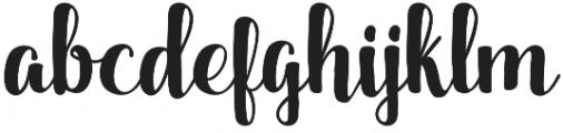 Dankita otf (400) Font LOWERCASE