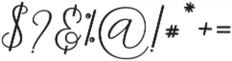 Danliny Script Bold Regular otf (700) Font OTHER CHARS