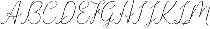 Danliny Script Bold Regular otf (700) Font UPPERCASE