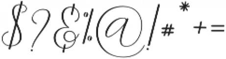 Danliny Script Regular otf (400) Font OTHER CHARS