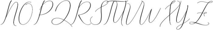 Danliny Script Regular otf (400) Font UPPERCASE